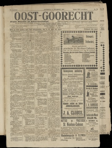 (Volksblad) Oost-Goorecht en Omstreken nl 1922-11-25