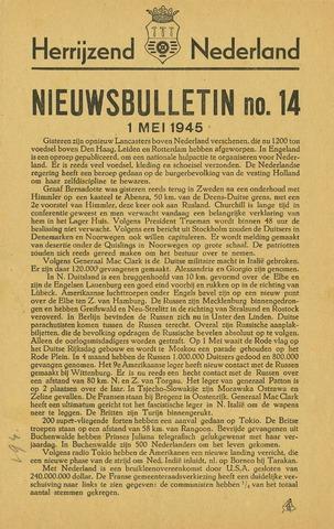 Nieuwsbulletin gemeente Hoogezand nl 1945-05-01
