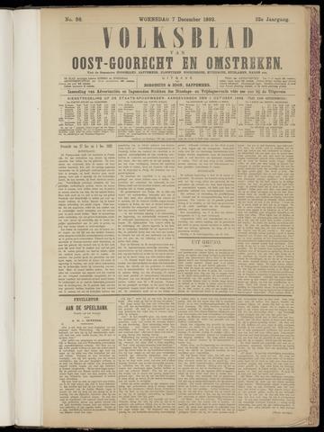 (Volksblad) Oost-Goorecht en Omstreken nl 1892-12-07