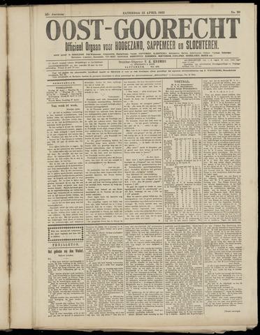 (Volksblad) Oost-Goorecht en Omstreken nl 1922-04-22