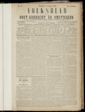(Volksblad) Oost-Goorecht en Omstreken nl 1892-04-13
