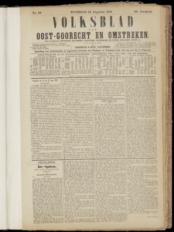 (Volksblad) Oost-Goorecht en Omstreken nl 1892-08-24