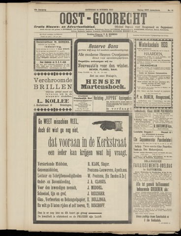 (Volksblad) Oost-Goorecht en Omstreken nl 1933-10-14