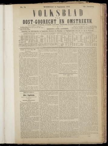 (Volksblad) Oost-Goorecht en Omstreken nl 1892-09-14