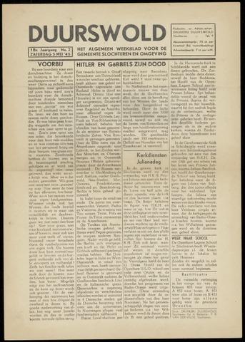 Nieuws- en Advertentieblad, Duurswold nl 1945-05-05