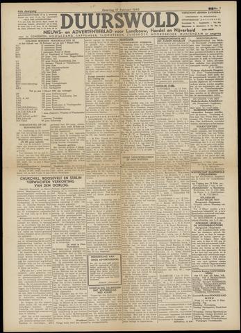 Nieuws- en Advertentieblad, Duurswold nl 1945-02-17