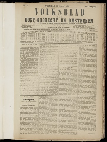 (Volksblad) Oost-Goorecht en Omstreken nl 1892-01-20