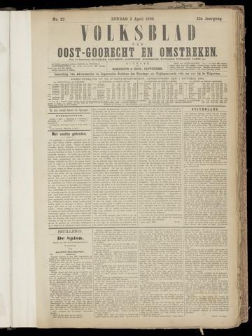 (Volksblad) Oost-Goorecht en Omstreken nl 1892-04-03