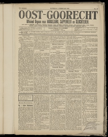 (Volksblad) Oost-Goorecht en Omstreken nl 1922-02-11