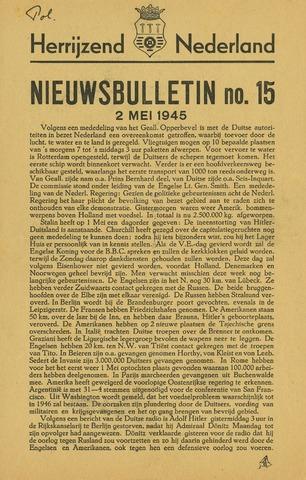 Nieuwsbulletin gemeente Hoogezand nl 1945-05-02