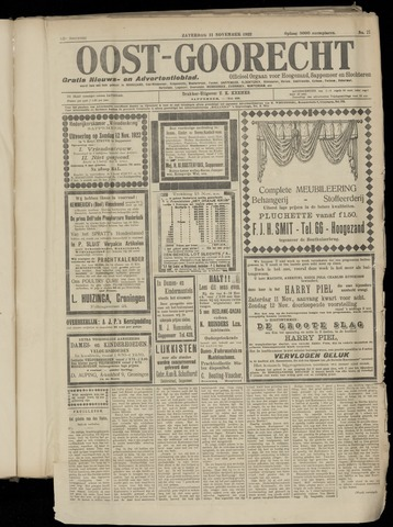 (Volksblad) Oost-Goorecht en Omstreken nl 1922-11-11