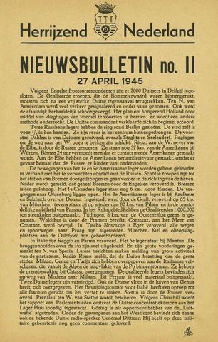 Nieuwsbulletin gemeente Hoogezand nl 1945-04-27