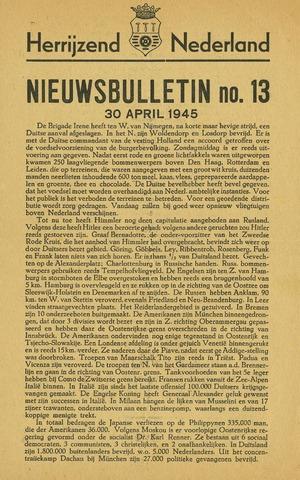 Nieuwsbulletin gemeente Hoogezand nl 1945-04-30