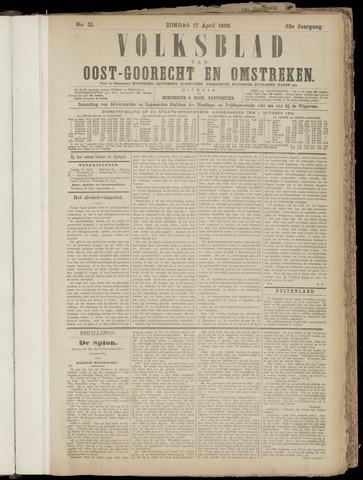 (Volksblad) Oost-Goorecht en Omstreken nl 1892-04-17