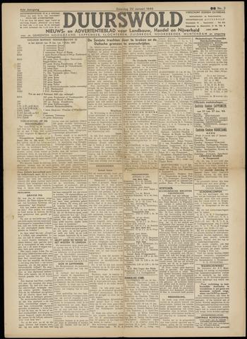 Nieuws- en Advertentieblad, Duurswold nl 1945-01-20
