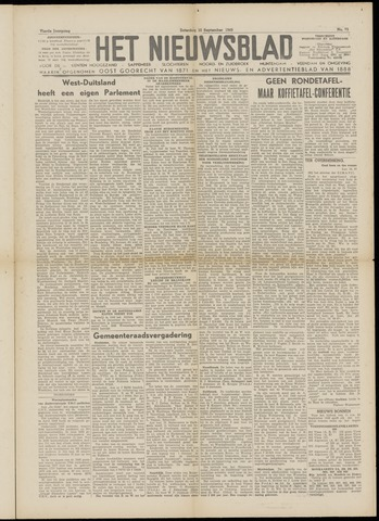 Het Nieuwsblad nl 1949-09-10