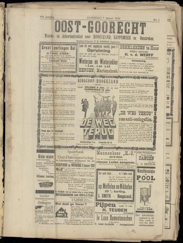 (Volksblad) Oost-Goorecht en Omstreken nl 1939