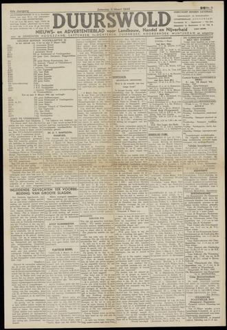 Nieuws- en Advertentieblad, Duurswold nl 1945-03-03