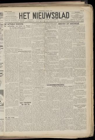 Het Nieuwsblad nl 1947-10-01
