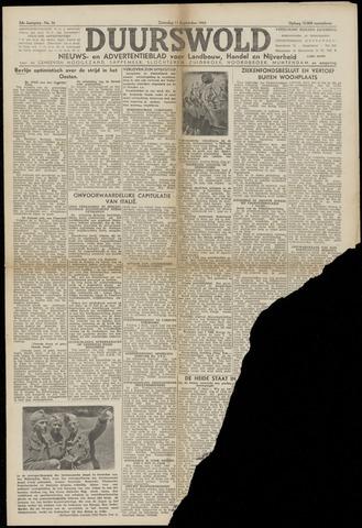 Nieuws- en Advertentieblad, Duurswold nl 1943-09-11