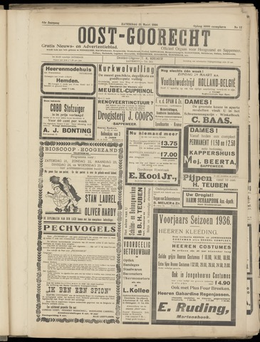 (Volksblad) Oost-Goorecht en Omstreken nl 1936-03-21