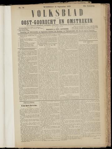 (Volksblad) Oost-Goorecht en Omstreken nl 1892-09-21