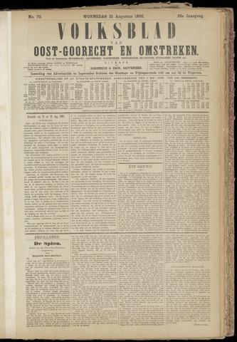 (Volksblad) Oost-Goorecht en Omstreken nl 1892-08-31