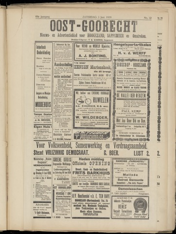 (Volksblad) Oost-Goorecht en Omstreken nl 1939-06-03
