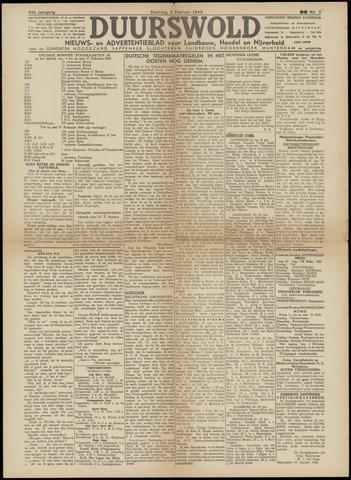 Nieuws- en Advertentieblad, Duurswold nl 1945-02-03