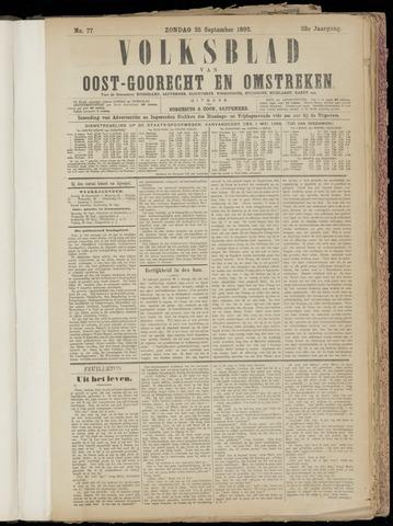 (Volksblad) Oost-Goorecht en Omstreken nl 1892-09-25