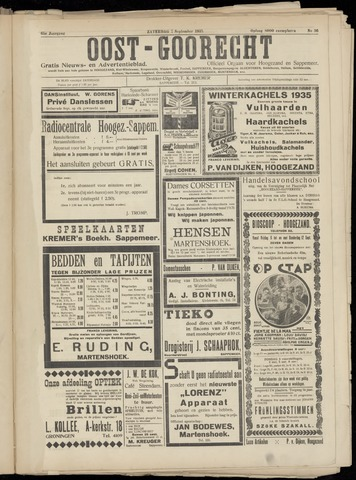 (Volksblad) Oost-Goorecht en Omstreken nl 1935-09-07