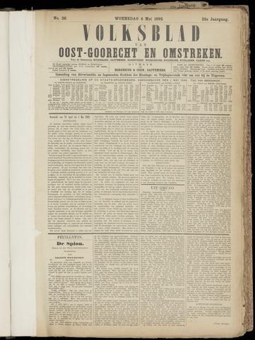 (Volksblad) Oost-Goorecht en Omstreken nl 1892-05-04