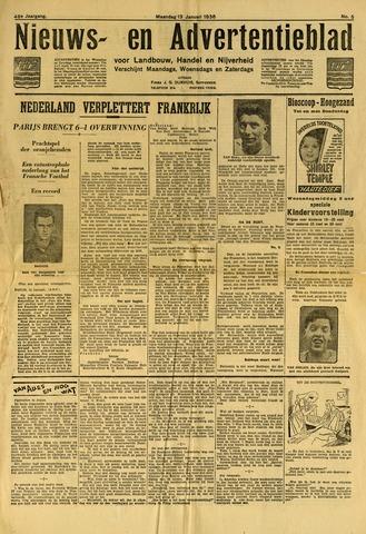 Nieuws- en Advertentieblad, Sappemeer nl 1936-01-13