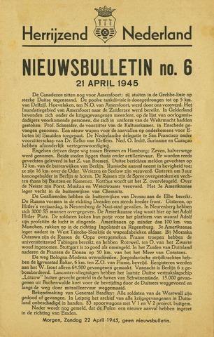 Nieuwsbulletin gemeente Hoogezand nl 1945-04-21