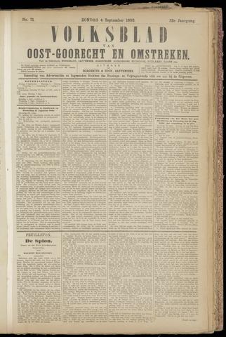 (Volksblad) Oost-Goorecht en Omstreken nl 1892-09-04