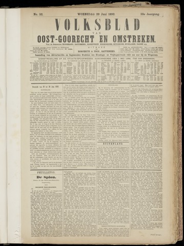 (Volksblad) Oost-Goorecht en Omstreken nl 1892-06-29
