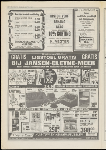 Flair Plaisir Ligstoel.Het Nieuwsblad Nl 25 April 1989 Pagina 20 P Kranten En