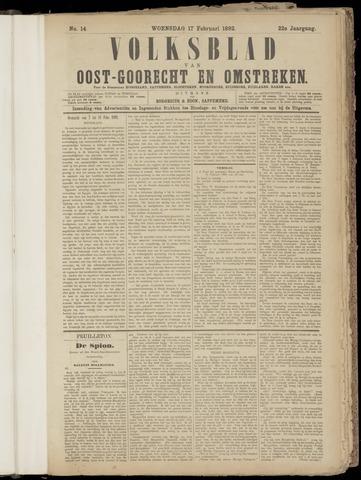 (Volksblad) Oost-Goorecht en Omstreken nl 1892-02-17