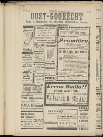 (Volksblad) Oost-Goorecht en Omstreken nl 1939-09-02