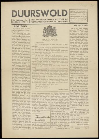 Nieuws- en Advertentieblad, Duurswold nl 1945-05-01