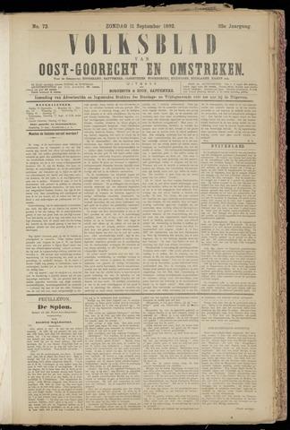 (Volksblad) Oost-Goorecht en Omstreken nl 1892-09-11