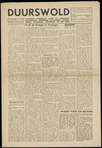 Nieuws- en Advertentieblad, Duurswold nl 1945-12-01