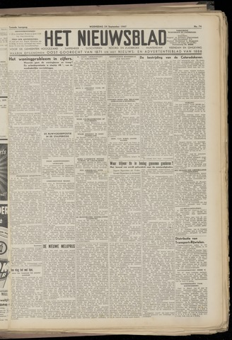 Het Nieuwsblad nl 1947-09-24