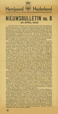 Nieuwsbulletin gemeente Hoogezand nl 1945-04-24