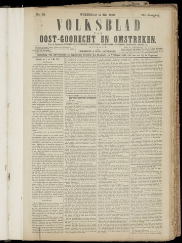 (Volksblad) Oost-Goorecht en Omstreken nl 1892-05-11