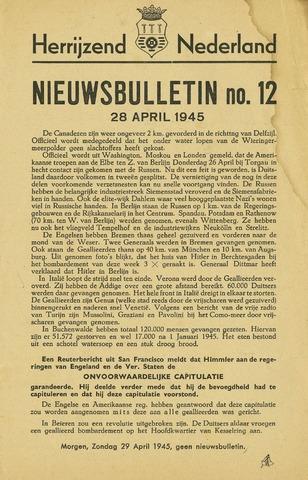 Nieuwsbulletin gemeente Hoogezand nl 1945-04-28