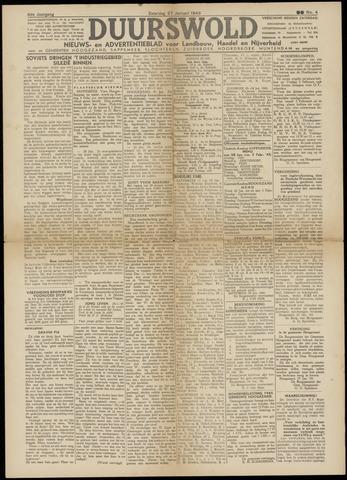 Nieuws- en Advertentieblad, Duurswold nl 1945-01-27