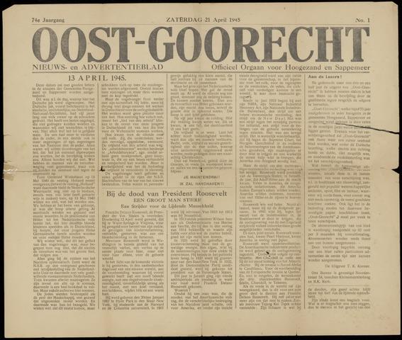 (Volksblad) Oost-Goorecht en Omstreken nl 1945