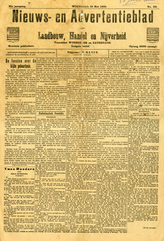 Nieuws- en Advertentieblad, Sappemeer nl 1909