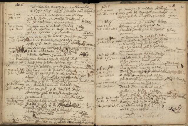 Baptism Roelf on November 11, 1807 in Rottum (Netherlands